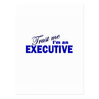 Confíe en que yo es ejecutivo tarjetas postales