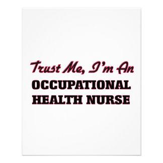 Confíe en que yo es enfermera de medicina del flyer a todo color