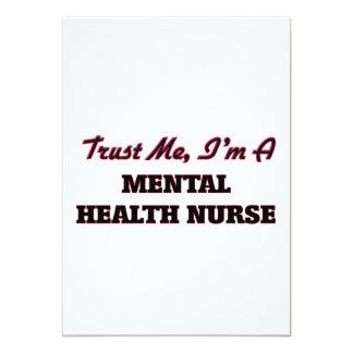 Confíe en que yo es enfermera de salud mental invitación 12,7 x 17,8 cm
