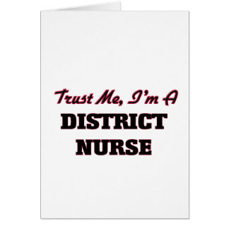 Confíe en que yo es enfermera del distrito tarjeton