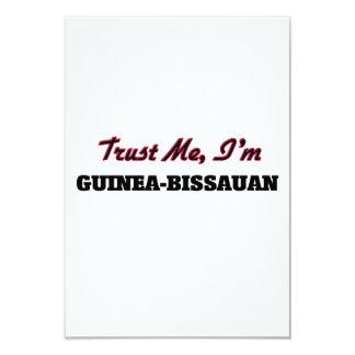 Confíe en que yo es Guinea-Bissauan Invitación 8,9 X 12,7 Cm