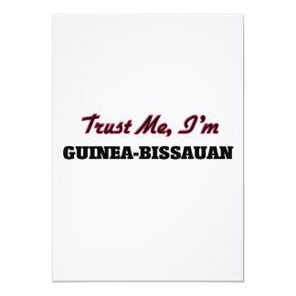Confíe en que yo es Guinea-Bissauan Invitación 12,7 X 17,8 Cm