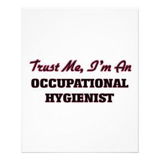 Confíe en que yo es higienista profesional tarjetas publicitarias
