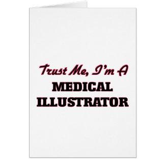 Confíe en que yo es ilustrador médico tarjetas