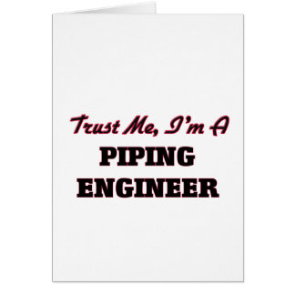 Confíe en que yo es ingeniero aflautado tarjeta