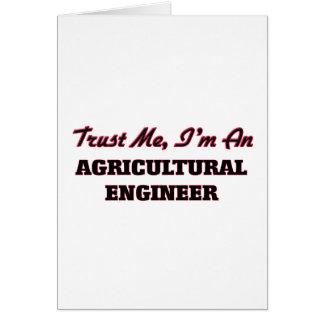 Confíe en que yo es ingeniero agrícola felicitacion