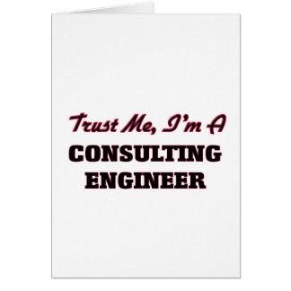 Confíe en que yo es ingeniero asesor tarjetas