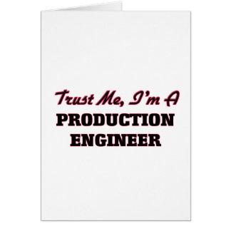 Confíe en que yo es ingeniero de la producción tarjeton