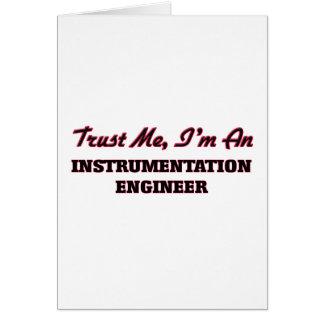 Confíe en que yo es ingeniero de la felicitacion
