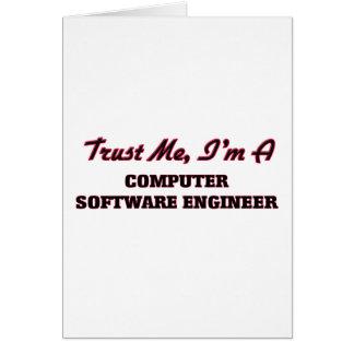 Confíe en que yo es ingeniero de los programas felicitaciones