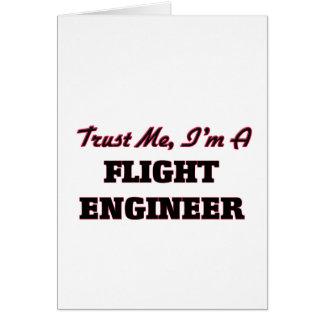 Confíe en que yo es ingeniero de vuelo tarjetón