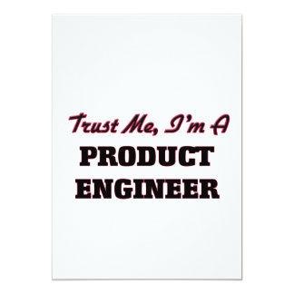 Confíe en que yo es ingeniero del producto invitación 12,7 x 17,8 cm