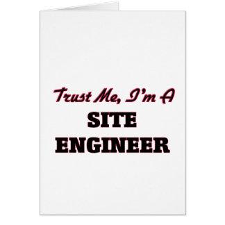 Confíe en que yo es ingeniero del sitio felicitación