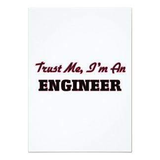 Confíe en que yo es ingeniero invitación 12,7 x 17,8 cm