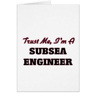 Confíe en que yo es ingeniero submarino felicitaciones