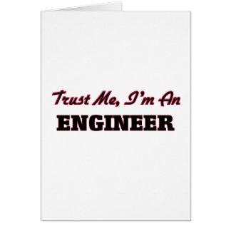 Confíe en que yo es ingeniero tarjeton