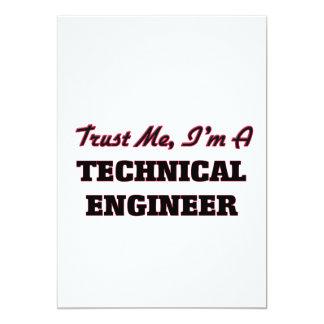 Confíe en que yo es ingeniero técnico invitación 12,7 x 17,8 cm