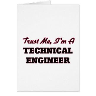 Confíe en que yo es ingeniero técnico tarjetón