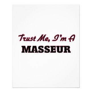 Confíe en que yo es masajista flyer personalizado