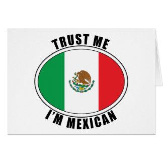 Confíe en que yo es mexicano felicitación