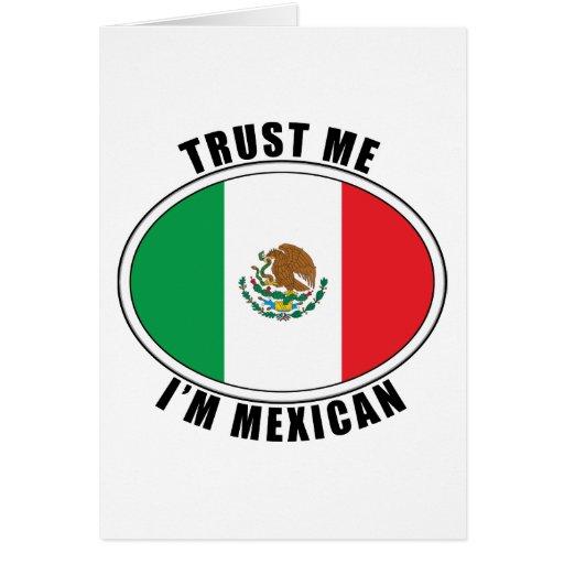 Confíe en que yo es mexicano tarjeton