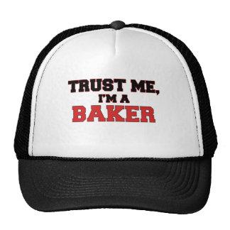 Confíe en que yo es mi panadero gorras de camionero