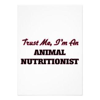 Confíe en que yo es nutricionista animal invitacion personal