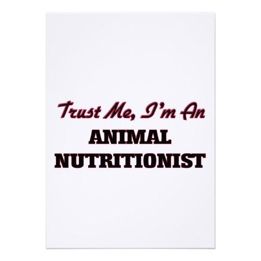 Confíe en que yo es nutricionista animal invitación personalizada