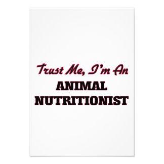 Confíe en que yo es nutricionista animal comunicados personalizados