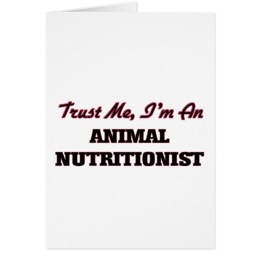 Confíe en que yo es nutricionista animal felicitaciones