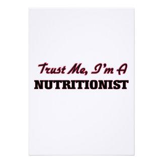 Confíe en que yo es nutricionista comunicados personalizados