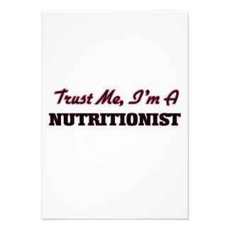 Confíe en que yo es nutricionista invitaciones personales