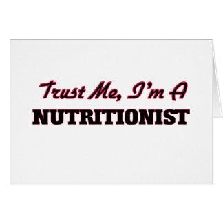 Confíe en que yo es nutricionista tarjetas