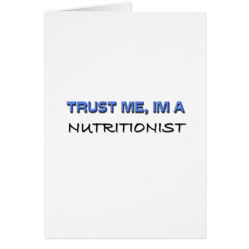 Confíe en que yo es nutricionista tarjetón