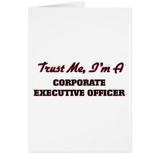 Confíe en que yo es oficial de ejecutivo tarjetas