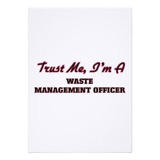 Confíe en que yo es oficial de la gestión de invitación personalizada