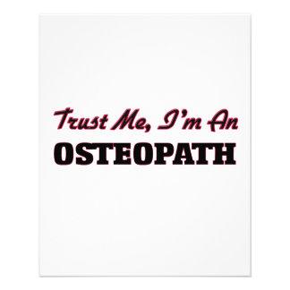 Confíe en que yo es osteópata flyer a todo color