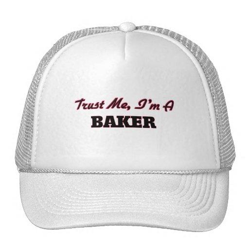 Confíe en que yo es panadero gorras