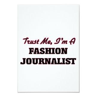 Confíe en que yo es periodista de la moda invitación 8,9 x 12,7 cm