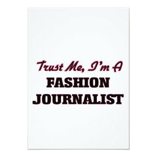 Confíe en que yo es periodista de la moda invitación 12,7 x 17,8 cm