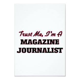 Confíe en que yo es periodista de la revista invitación 8,9 x 12,7 cm