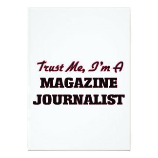Confíe en que yo es periodista de la revista invitación 12,7 x 17,8 cm