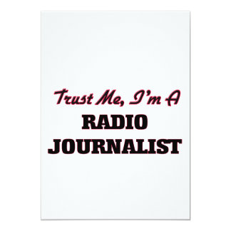 Confíe en que yo es periodista de radio invitación 12,7 x 17,8 cm