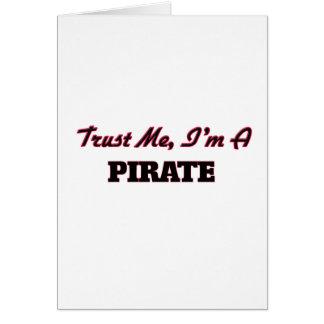 Confíe en que yo es pirata tarjetón