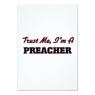 Confíe en que yo es predicador invitación 8,9 x 12,7 cm