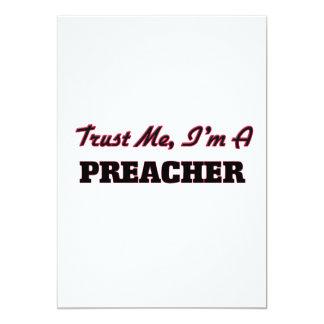 Confíe en que yo es predicador invitación 12,7 x 17,8 cm