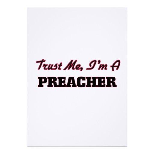Confíe en que yo es predicador anuncio