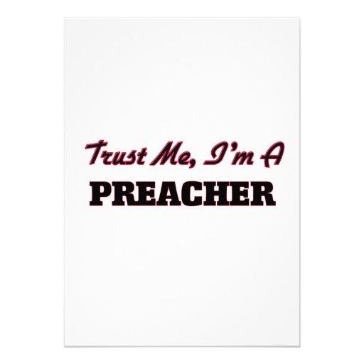 Confíe en que yo es predicador invitacion personalizada