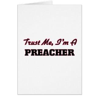 Confíe en que yo es predicador tarjetas