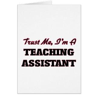 Confíe en que yo es profesor ayudante tarjetón